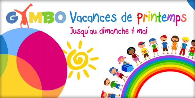 Gymbo accueille vos enfants pour les vacances de printemps